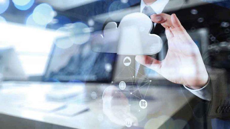 Wolke mit IT-Umgebung für Backups in der Cloud