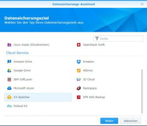 Initialer Ingest Synology Diskstation via Frachter 2