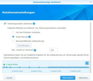 Initialer Ingest Synology Diskstation via Frachter 8